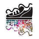 Sneaker running shoe reflection hippie psychedelic by BigMRanch