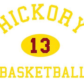"""Hoosiers"" Hickory Basketball Tee by boscotjones"