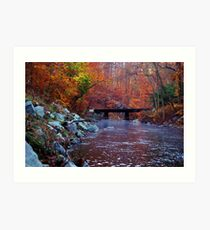 Over Red Clay Creek Art Print