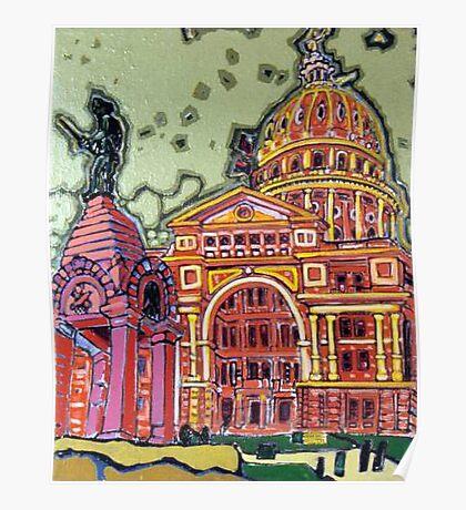 Defense! - Texas State Capitol - Austin, Texas Poster
