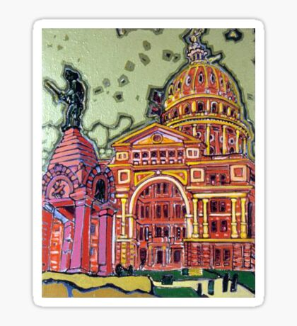 Defense! - Texas State Capitol - Austin, Texas Glossy Sticker