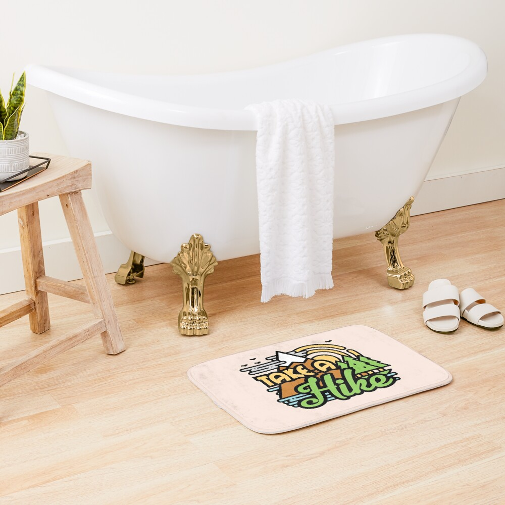 Take A Hike Bath Mat