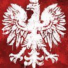 «Bandera polaca águila grunge» de Garyck Arntzen