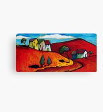 SUN ON A RED LANDSCAPE  Canvas Print