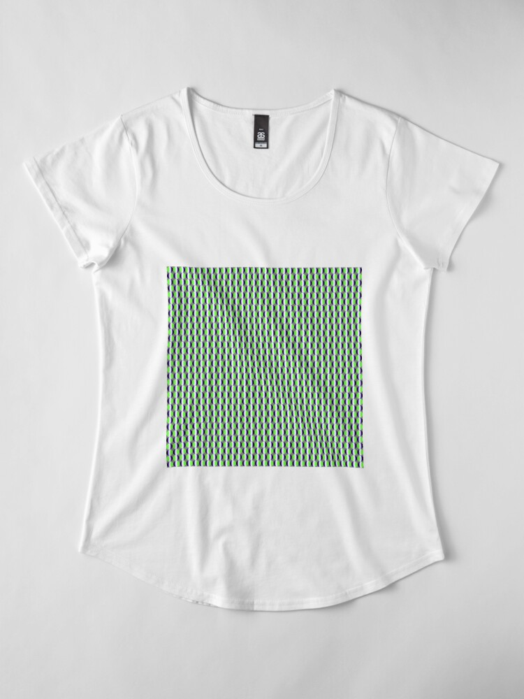 Alternate view of #Pattern, #abstract, #design, #fashion, decoration, repetition, color image,  geometric shape Premium Scoop T-Shirt