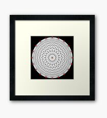 20 Points on a circle Framed Print