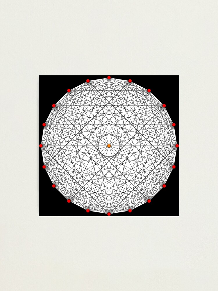 Alternate view of 20 Points on a circle Photographic Print