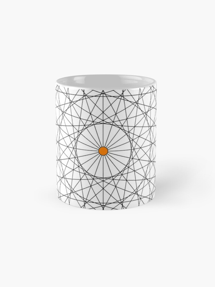 Alternate view of 20 Points on a circle Mug