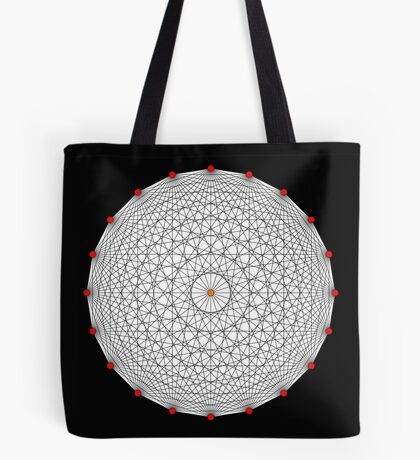 20 Points on a circle Tote Bag