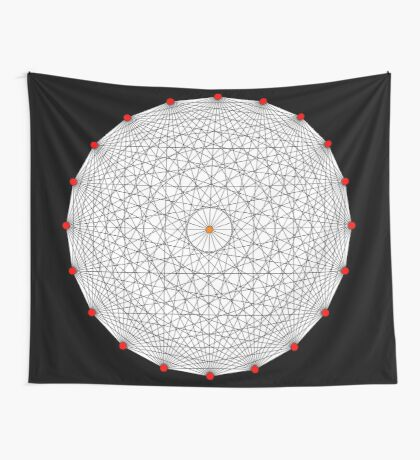 20 Points on a circle Wall Tapestry