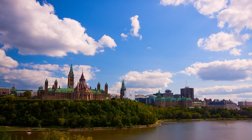 Canadian Parliament Buildings - Ottawa by Josef Pittner