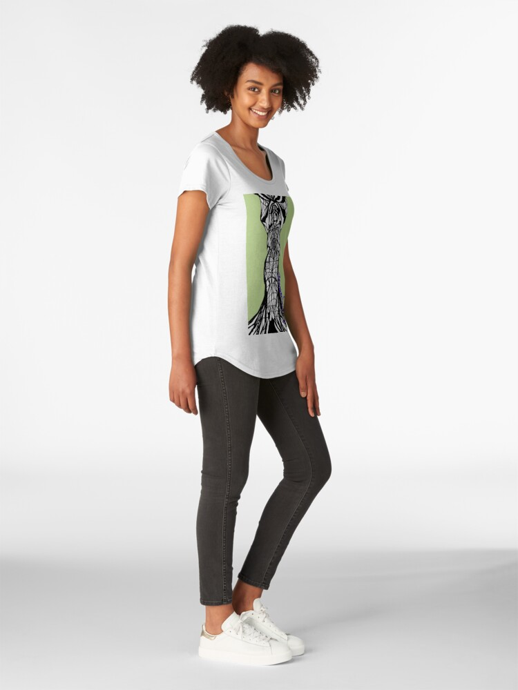 Alternate view of Woman Within3 Premium Scoop T-Shirt