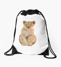 Baby lion illustration  Drawstring Bag