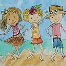 Beach Boogie - Emily Bay Norfolk Island by Amanda  Hazlett