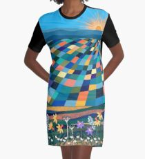Bright Sun Shiny Day Graphic T-Shirt Dress