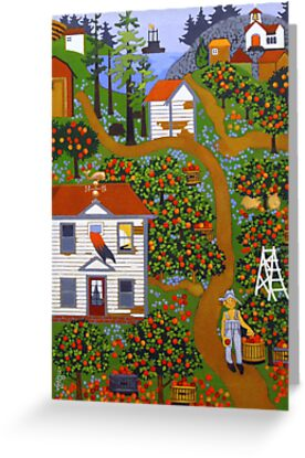 """Apple Pies Here Today"" greeting card by Dawn Peterson"