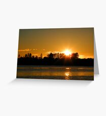 Narrabeen Lake - 26th August 2010 Greeting Card