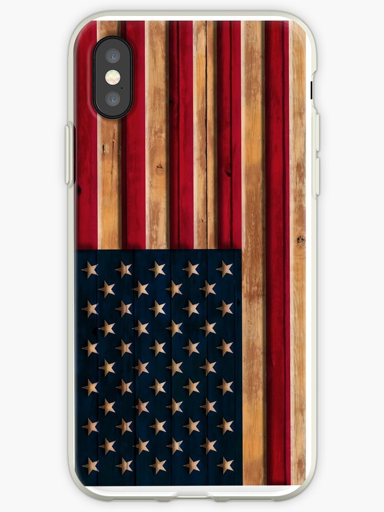 Vintage Distressed American Flag Wood Look by frittata