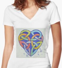 Endless Rainbow Women's Fitted V-Neck T-Shirt