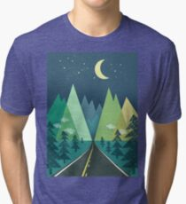 the Long Road at Night Tri-blend T-Shirt