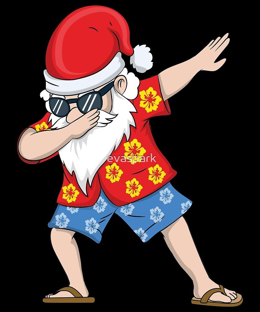 Christmas In July Santa Clipart.Christmas In July Hawaiian Dabbing Santa Summer T Shirt By