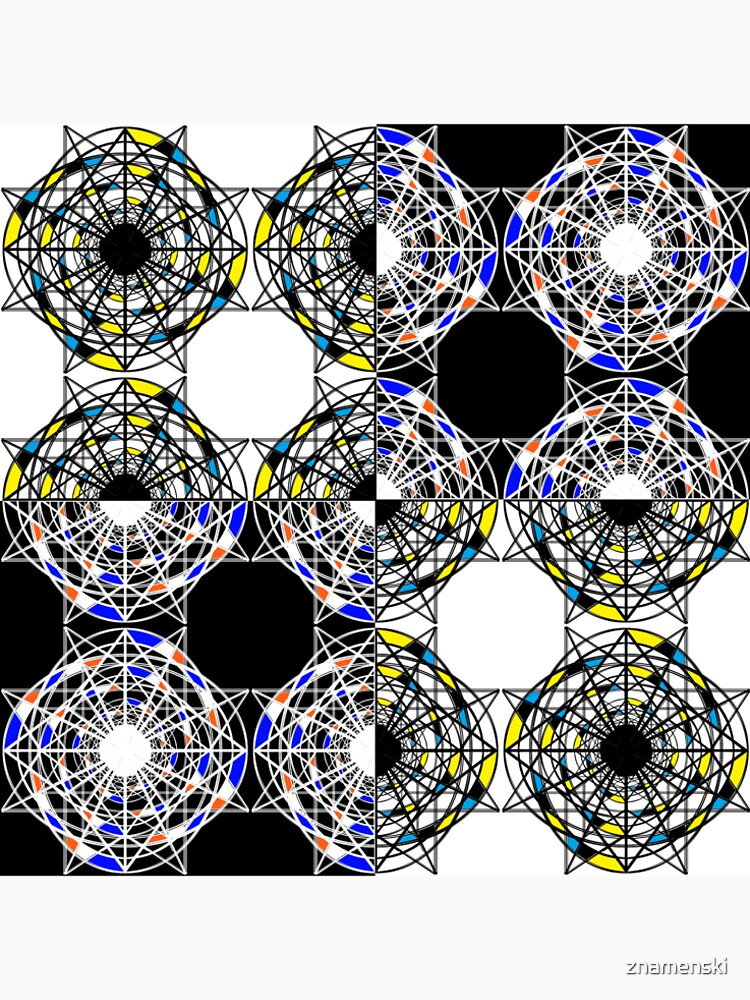 #Scrapbook, #design, #pattern, #repetition, abstract, illustration, square, color image, geometric shape, retro style by znamenski