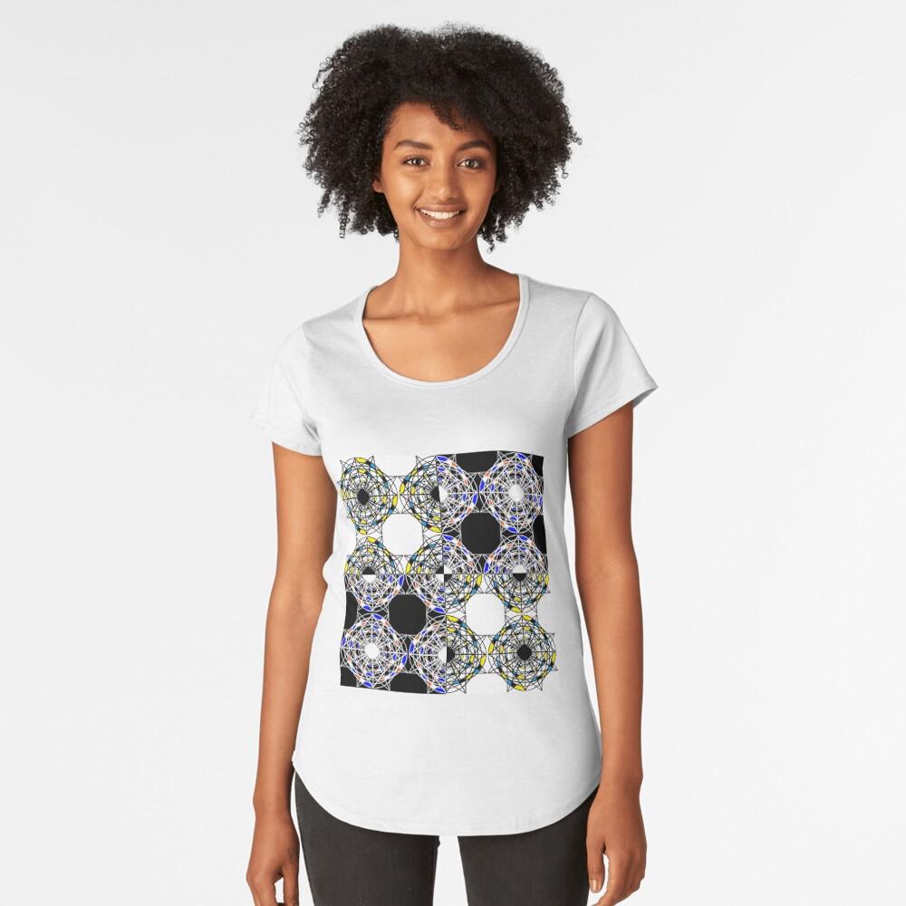 #Scrapbook, #design, #pattern, #repetition, abstract, illustration, square, color image, geometric shape, retro style Premium Scoop T-Shirt