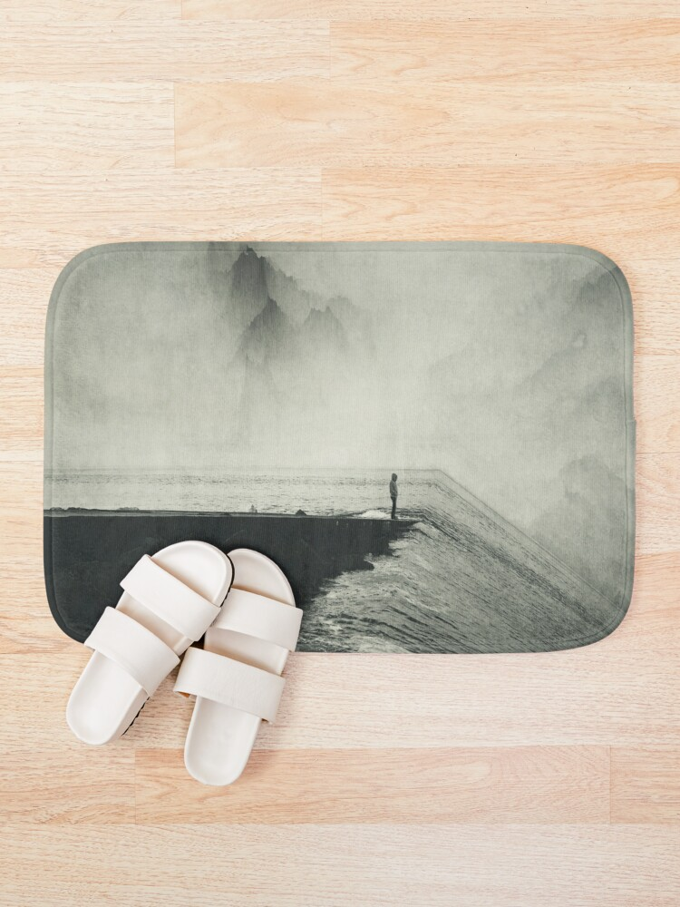 Alternate view of VertigOcean - surreal seascape Bath Mat
