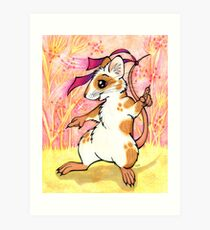 Boogie Mouse - Partying in the Field! Art Print