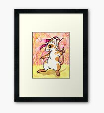 Boogie Mouse - Partying in the Field! Framed Print