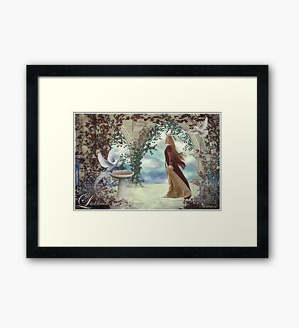 Look into the light... Framed Print
