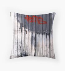 Tag Door Throw Pillow