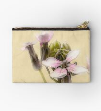 Vintage Flower Photograph on Aged Paper Zipper Pouch