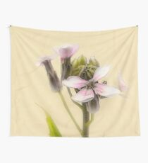 Vintage Flower Photograph on Aged Paper Wall Tapestry