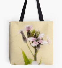 Vintage Flower Photograph on Aged Paper Tote Bag