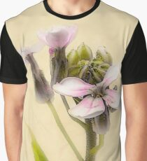 Vintage Flower Photograph on Aged Paper Graphic T-Shirt