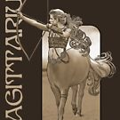 Sagittarius t-shirt by Ivy Izzard