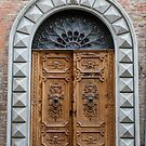 Beautiful wooden door in Tuscany by revealedrome