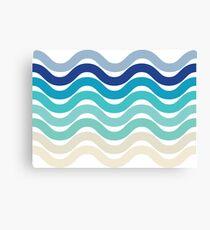 Beach- Sand, Ocean, Sky Color Theme Canvas Print