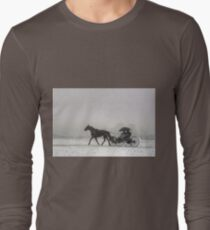 Romantic Buggy Ride In The Snow Long Sleeve T-Shirt