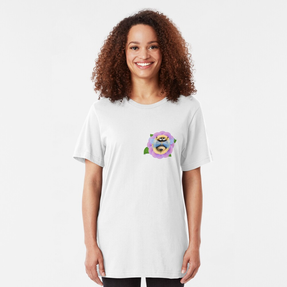 Bee and the flower Slim Fit T-Shirt