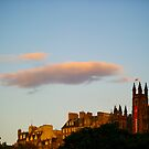 Sunset over Endinburgh by Richie Wessen