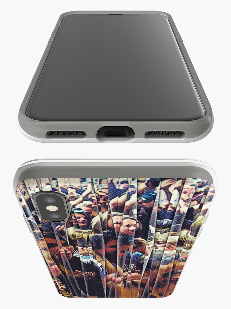 Alternate view of Concert Crowd Fans iPhone Case & Cover