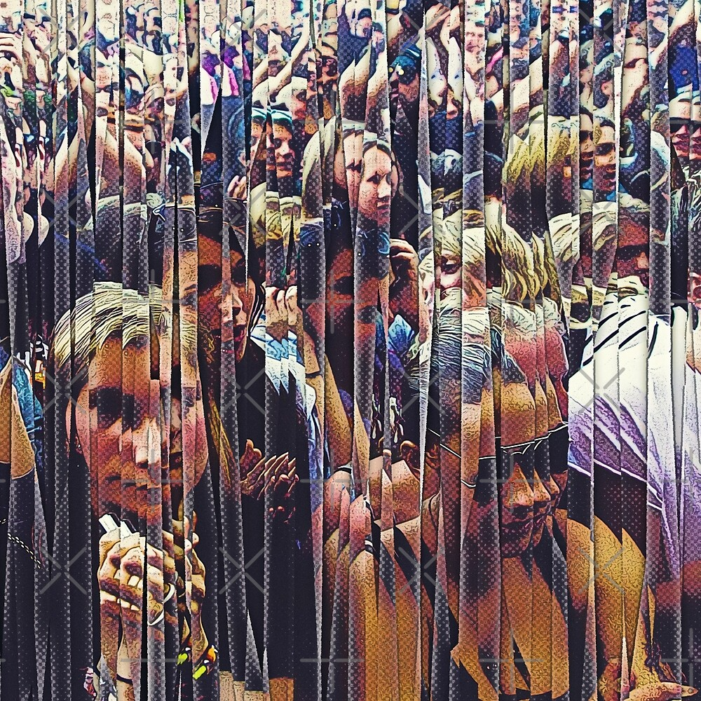 Concert Crowd Fans by Phil Perkins
