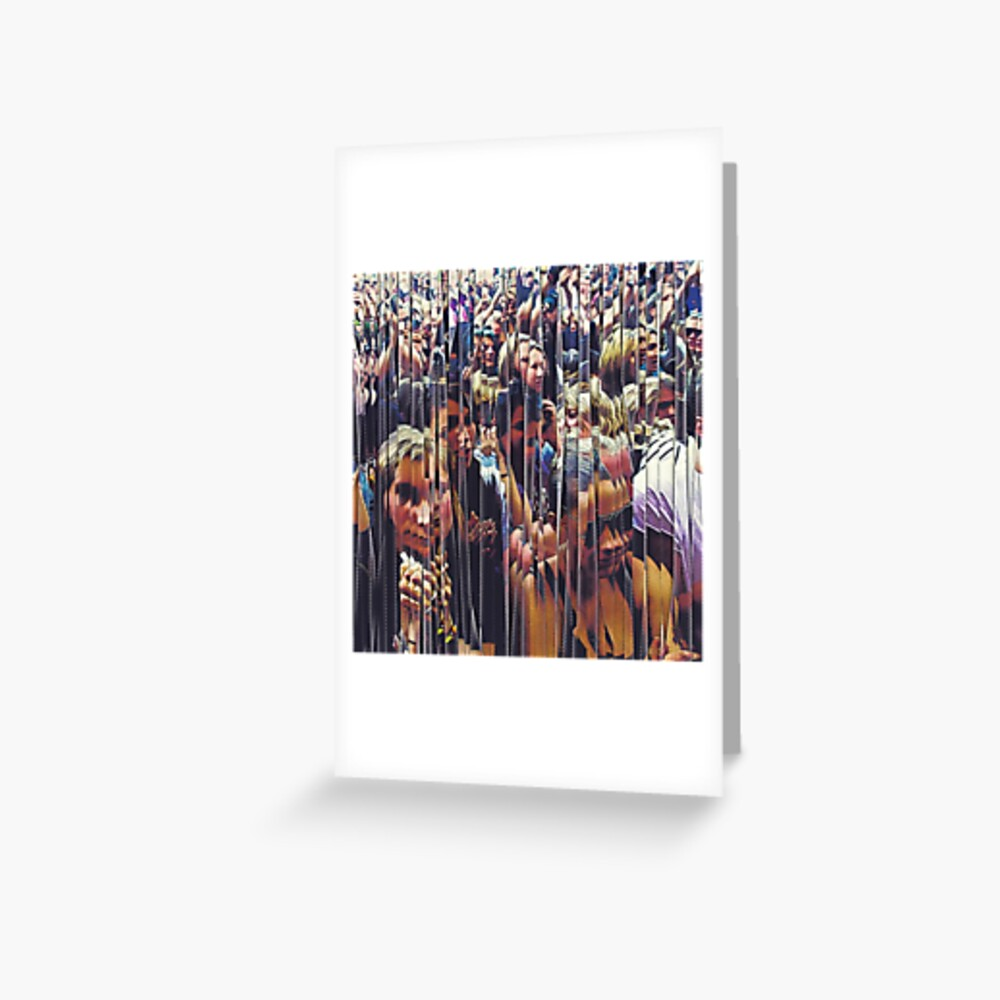Concert Crowd Fans Greeting Card