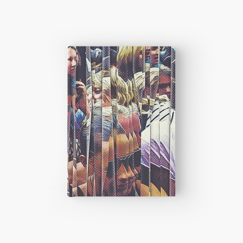 Concert Crowd Fans Hardcover Journal