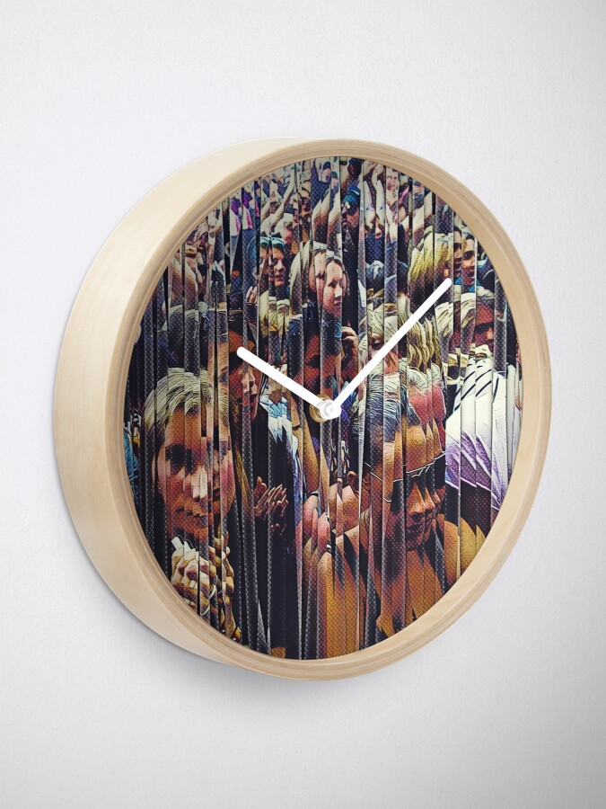 Alternate view of Concert Crowd Fans Clock