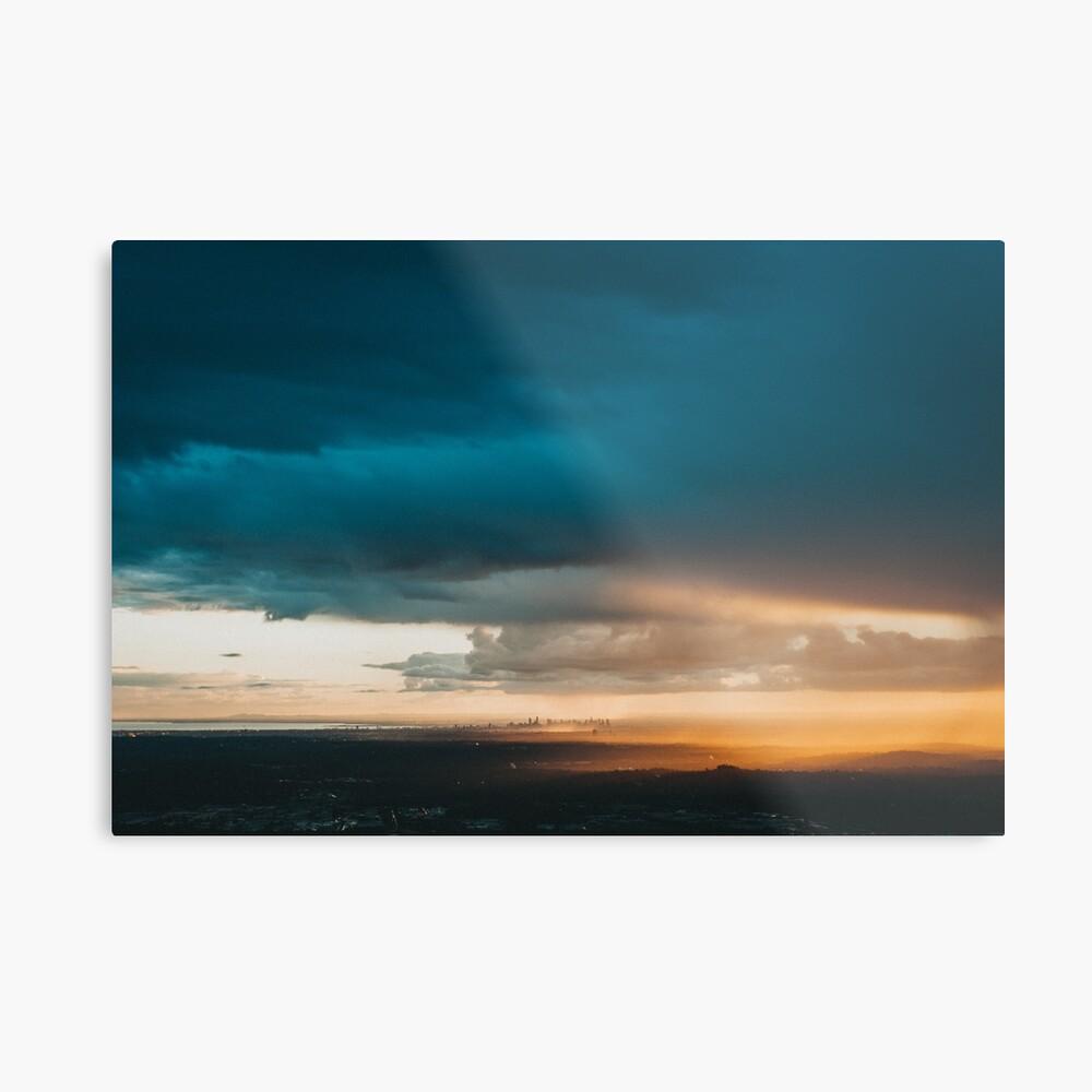 'Melbourne City Sunset, Australia.' Metal Print