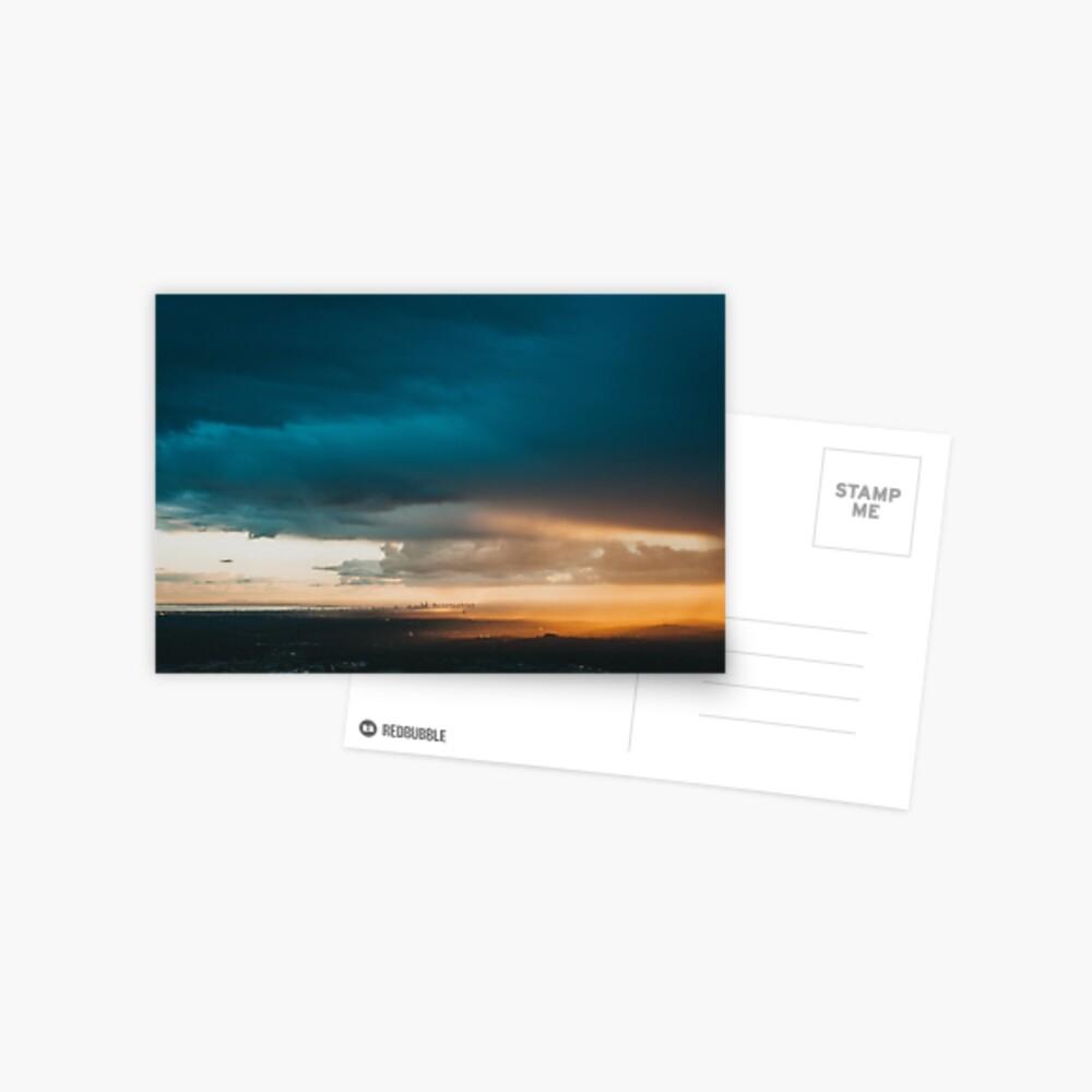 'Melbourne City Sunset, Australia.' Postcard
