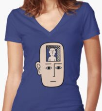 In my mind there may be me Fitted V-Neck T-Shirt